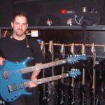John Petrucci Musicman JP Blue Sparkle Doubleneck