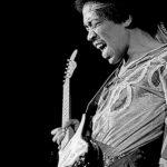 Jimi Hendrix en plein concert