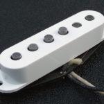 Gilmour pose un Fender Fat 50 sur la Black Strat